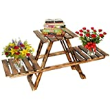 QUALITY HANDICRAFTS Wooden 3 Tier Pot Stand/Bathroom Rack/Garden Rack/Multipurpose Stand and Folding Too for Indoor and Out Door USE