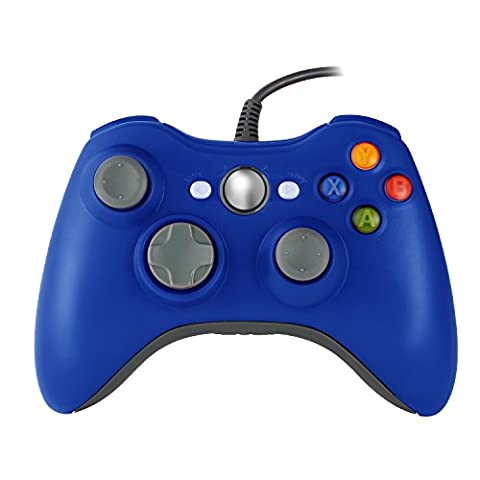 Homgrace XBOX 360 Controller USB Gamepad Game Controller Kabelgebunden Joypad für Windows PC / Android Handy / PS3 / Smart TV / Tablet (Blau)