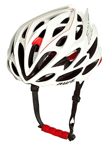 AWE® AWESpeed™ SOSTITUZIONE DI CRASH GRATIS 5 ANNI * Nello stampo di ciclismo su strada uomini adulti Casco Bianco/rosso 58-61cm
