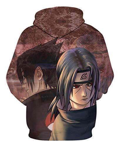 Cosstars Japanese Anime Naruto 3D Digitaldruck Kapuzenpullover Hoodie Cosplay Kostüm Pulli Sweatshirt Tops Mäntel 3 XXXL