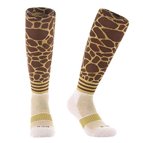 Samson Hosiery® Kinder Damen Herren Socken Fußball ausgefallene Socken Farbe Gr. M, Print Giraffe (Kinder-socken Giraffe)