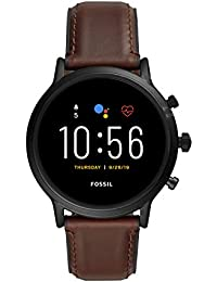 Fossil Herren Digital Touchscreen Gen.5 Smart Watch mit Genuine Leather Armband, FTW4026