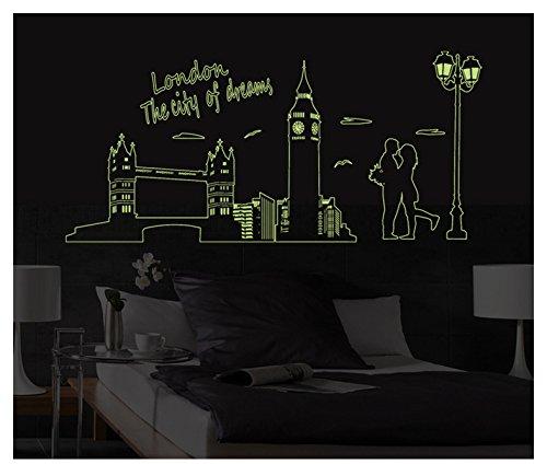 Wapel Le Mur De La Chambre Peut Supprimer L'Arrière-Plan Arrière-Plan Fluorescent Lumineux Chambre City