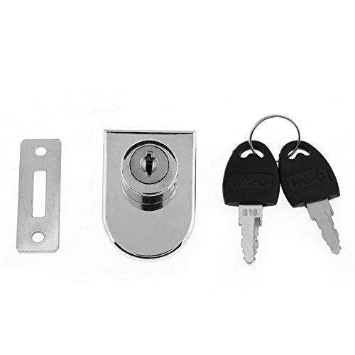 Fdit Zink Legierung Doppel Tür Schublade Office Home Schrank Möbel Hardware Schrank der mit Schlüssel -
