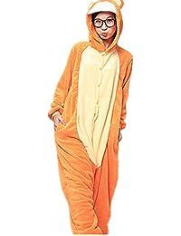 Samgu-singe jaune animal Pyjama Cospaly Party Fleece Costume Deguisement Adulte Unisexe