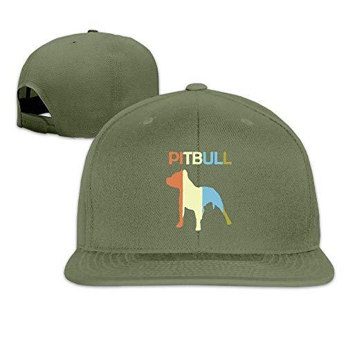 shengpeng Pitbull Vintage Vintage Washed Dyed Cotton Twill Low Profile Adjustable Baseball Cap Navy -
