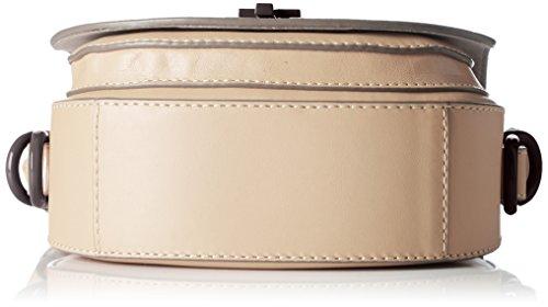 Tommy Hilfiger Mid Leather Mini, Sac Femme, 3x6x6 cm Beige (Sand)