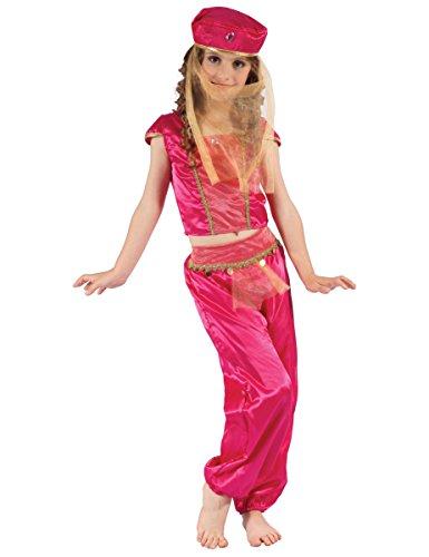 generique Costume da odalisca rosa oro per bambina 4/6 anni (104/116)
