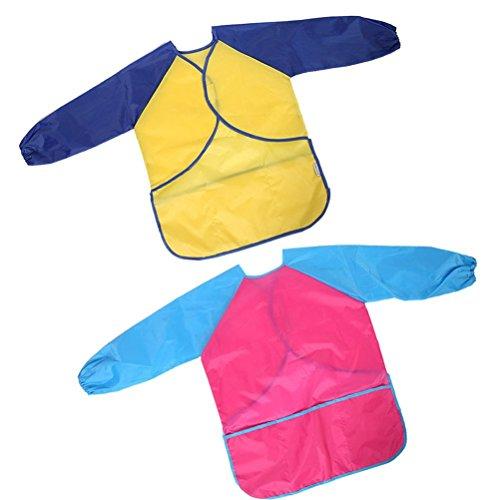 r Wasserdicht Anti-Fouling Kleidung Kittel für Alter 4 bis 7 Kinder Kleinkind Malerei Schürzen mit 3 Taschen (Kleinkind Kittel Kostüme)