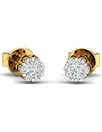 Stylori 18k Gold and Diamond Diozin Flora Stud Earrings