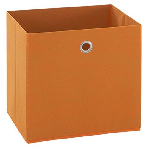 PEGANE Boîte Pliable en intissé Coloris Orange, L 32 X H 32 X P 32 cm