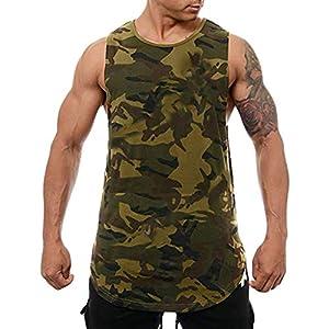JIAWEIDAMAI Männer Tank Top Sommer Camouflage Druck Ärmellose Sportweste Tops Bodybuilding Musculation Singulett Fitness…