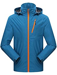 Zhhlaixing Fashion Mens Solid color Sports Casual Jacket Outdoor Hooded Quick-dry Outwear