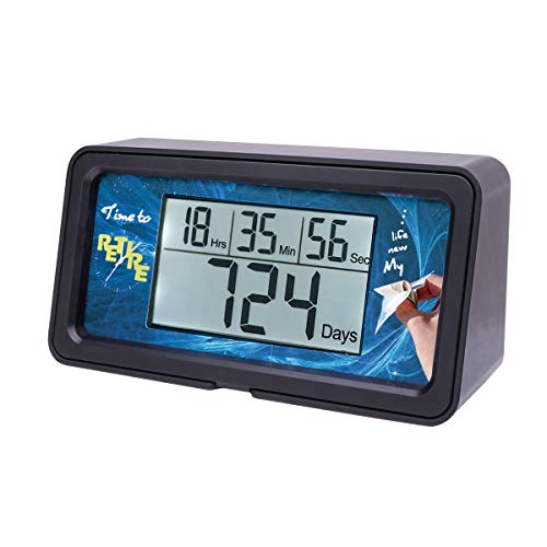 AIMILAR Digitaler Countdown-Tage-Timer - 9999 Tage Countdown Tage Timer mit Hintergrundbeleuchtung für Ruhestand, Hochzeit, Urlaub, Weihnachten, Neugeborene, Klassenzimmer, Labor, Küche