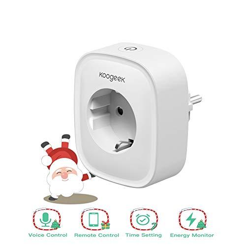 Enchufe Inteligente WiFi, Koogeek Smart Plug, Compatible con Alexa/Google Home, Control Remoto...