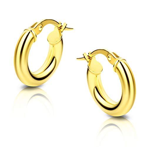 Orovi Ohrringe Damen Gelbgold 14 Karat / 585 Gold Creolen