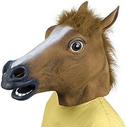 Rubber Horse Head Mask Halloween Gangnam