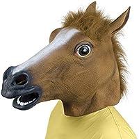 Queenshiny Latex Rubber Horse Head Mask Costume Halloween Gangnam Style Dance-One