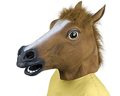 Latex Costume - Latex Rubber Horse Head Mask Costume Halloween