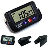 Zollyss Car Dashboard / Office Desk Alarm Clock and Stopwatch with Flexible Stand