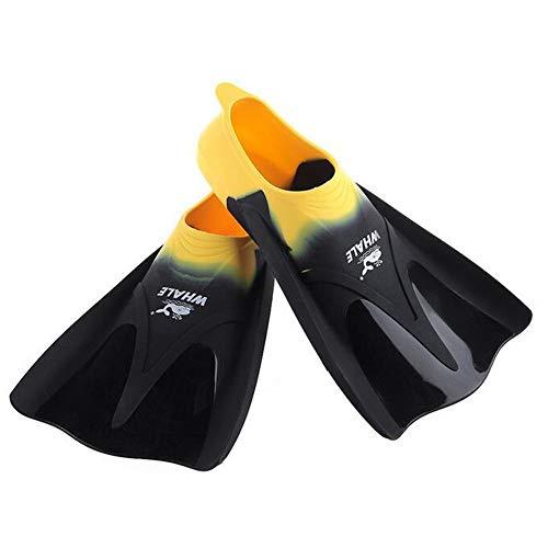 Agua Short Aletas de Snorkeling con Zapatilla Cerrada Silicona Suave y Confortable para Buceo, Snorkeling y Natación, Adultos,M