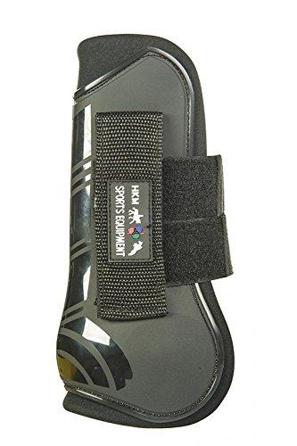 HKM 91999191.0643 Springgamaschen und Streichkappen, 4er Set, Genua, schwarz