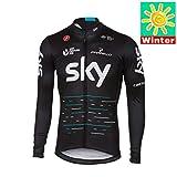 Sports Thriller Rider XiXiMei EU Stil 1 Mountain Bike Fahrradbekleidung für Herren MTB Fahrrad Radtrikot Langarm Thermisch Warm Jacke Medium