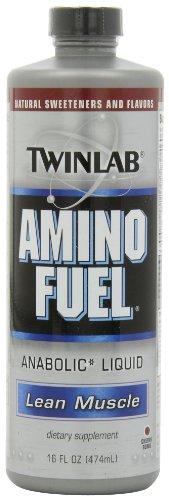 Twinlab, Liquide anabolisant Amino Fuel, Cherry Bomb, 16 fl oz (474 ml)
