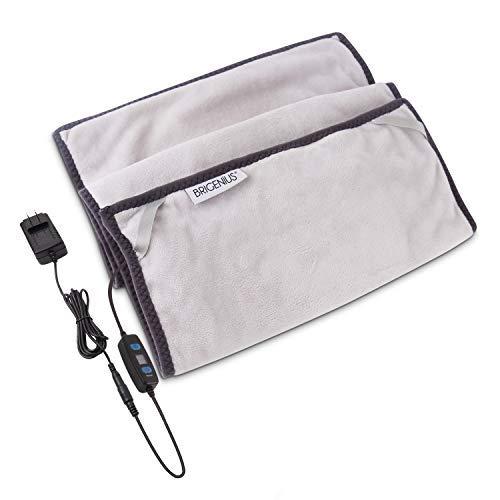 Graphene Heizung Pad mit Abschaltautomatik, 30 x 40 cm Mini Heizdecke mit 3 Temperaturstufen, Waschbares Elektronisches Wärmekissen zur Linderung von Rückenmerzen, Taillenmerzen und Bauchschmerzen