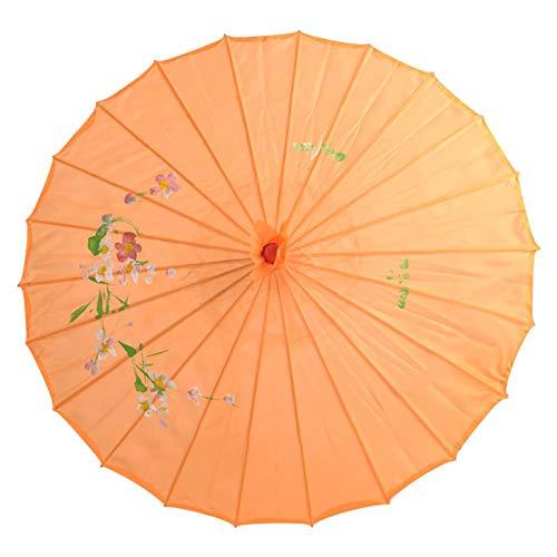 Kostüm Tanz Bambus - Maritown Asiatische japanische chinesische handgemachte Sonnenschirm Öl Papier und Bambus Regenschirm für klassischen Tanz Performance Kostüme Cosplay Fotografie Hochzeit Dekor