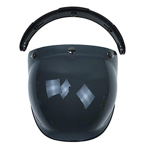 KKmoon Visiera parabrezza Bubble 3-Snap per casco moto Biltwell Gringo Bonanza marrone scuro