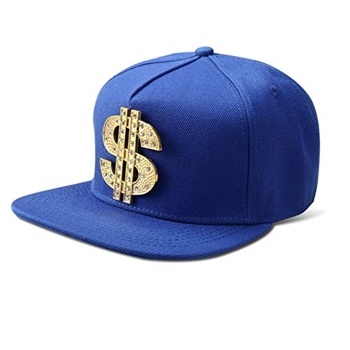 WYKDA Vogue Bling Diamond Dollar $ Zeichen Geld Baseball Caps Straight Flap Hysteresenhut Hip Hop Hüte Männer Frauen Kristall Geschenke