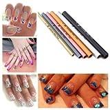 6-Size-Aluminium-Artificial-Gel-Acrylic-Nails-Nail-Art-Shaping-Tool