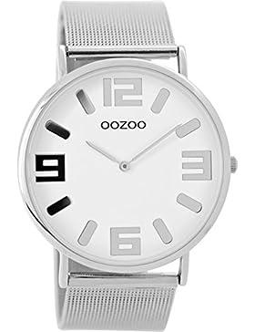 Oozoo Vintage Damenuhr Metallband 42 MM Weiss/Silberfarben C8880