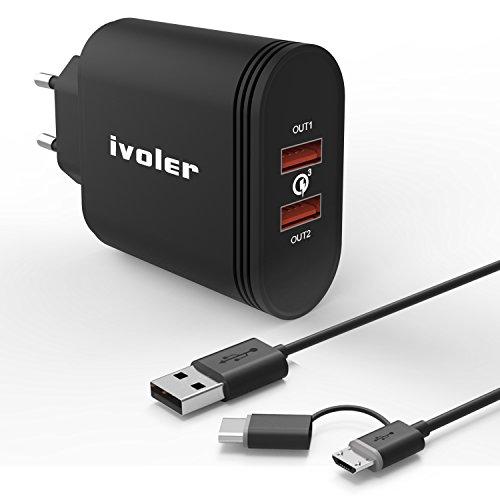iVoler Due Quick Charge 3.0 Type C 36W 2 Porte...