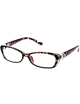 Deylaying Gafas de lectura Anti-radiación Resina Revestimiento Lente Elegante Moda Ojo de gato Marco gafas 1.0...