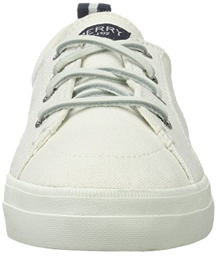 Sperry Top-Sider Crest Vibe Wash Linen White, Basses Femme Weiß (White)