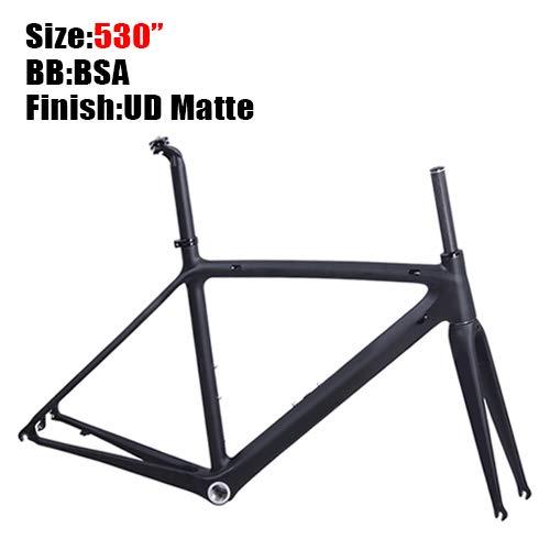 2019 cuadros de ciclismo de bicicleta de carretera de carbono súper ligero 980g Di2 / cuadro de carretera mecánico de carreras de carbono (Mate)