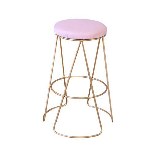 Eisen Barhocker einfache Heimat Rückenlehne Esszimmerstuhl Barhocker Moderne Café Bar Lounge Sessel (Farbe : A, größe : 32 * 75cm) - Eisen Barhocker