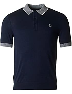 Fred Perry Authentics Striped Trim Short Sleeved Knitted Polo