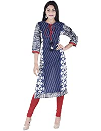 Cotton Printed Kurti For Women And Girls In Straight Pattern For Daily Wear And Office Wear By Vaachi