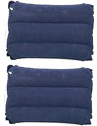 TRIXES 2 almohadas inflables para viajar o ir de camping en color azul