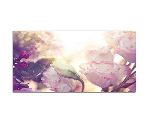 120x60cm - Fotodruck auf Leinwand und Rahmen Blume Rose Blüte Romantik - Leinwandbild auf...