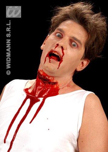 Palillo de Halloween en cicatriz falsa garganta acuchillado