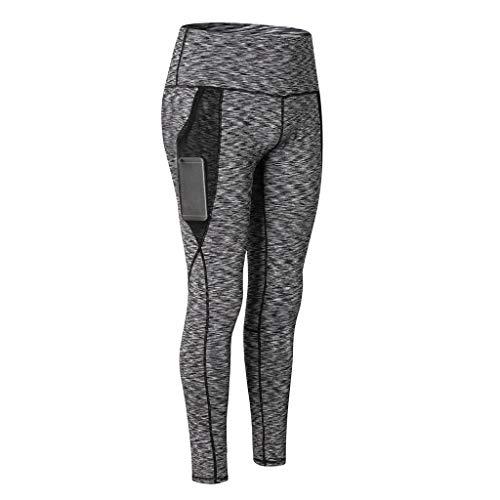 d25091057a Dragon868 Pantaloni da Corsa Donna Colorati metà Vita Elastico Tasche Mesh  Leggings Ginnastica Fitness Skinny Yoga