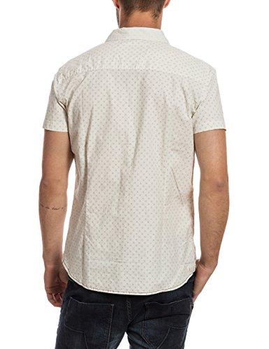 Timezone Herren Freizeithemd Shortsleeve Shirt Weiß (offwhite minimal 2082)