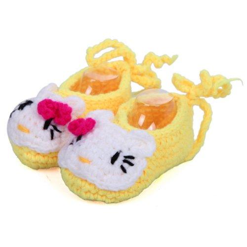 Macia 11 Sapatos Bebê Gato Engatinhando Sapatos Panda Malha Centímetros Amarelo Comprimento Ykk De Azul T Sorrir Izxw8afqy