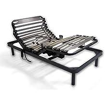 Duermete Cama articulada eléctrica Reforzada-Disponible en Varias Medidas, Gris, 90 x 190