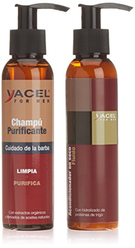 Yacel For Men Tratamiento Champú + Acondicionador para Barba - 250 ml