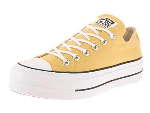 Converse Chuck Taylor All Star Lift Ox Freizeitschuh für Damen, Gelb (Bright Yellow/Black/White), 42.5 EU (Converse-plattform)